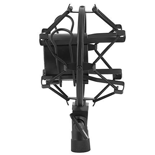 Montaje de choque simple, micrófono negro columpio plástico y metal para 43-50 mm de diámetro con condensador de micrófono de grabación de estudio