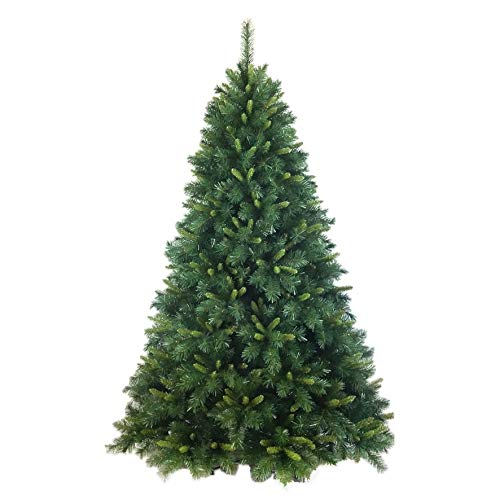 Flora s.r.l. Napapjiri Albero di Natale, Sintetico, Verde, Altezza 1.8 m