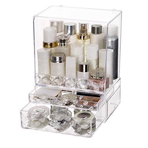 LYN Organisateur de Maquillage, Coffret de Maquillage en Acrylique Transparent pour tiroir à Bijoux avec Organisateur