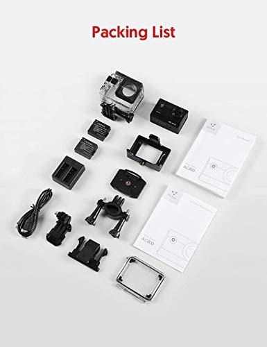 AC800アクションカメラの4K20MPのWiFiEIS防水40M水中ビデオカメラデュアルバッテリー充電器zhaoyun