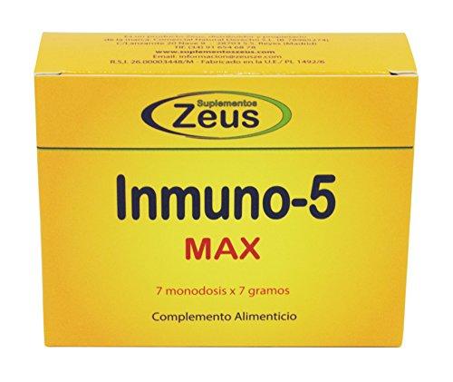 Zeus Inmuno - 5, Complemento Alimenticio, 7 Sobres  de 7 gr