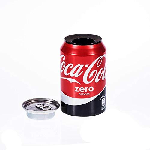 Cocacola zero de ocultacion + pegatina/Bote de camuflaje/Lata de ocultación imitación refresco (Coca Cola Zero)