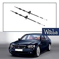 新しいペア(左+右)駐車ブレーキケーブル用BMW E65 745 750 760 Alpina E66 34436780016 34436780017