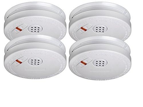 4er SET Rauchmelder mit 10 Jahres Lithium Batterie - VDS Zertifiziert & Q-Siegel für höchste...