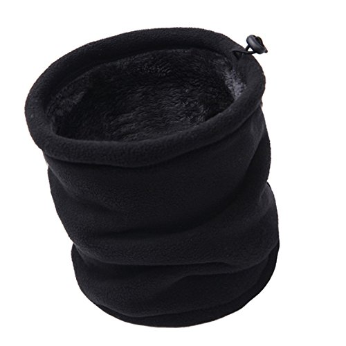 Winter Double Layer Fleece Neck Gaiter Neck Warmer Scarf Face Mask...