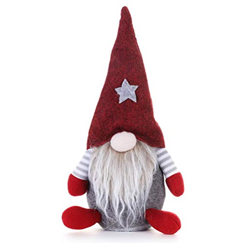 JIANMIN Home decorations Christmas Faceless Gnome Santa Doll Decoration Hanging Ornaments Holiday Decorations,Grey (Color : Grey)