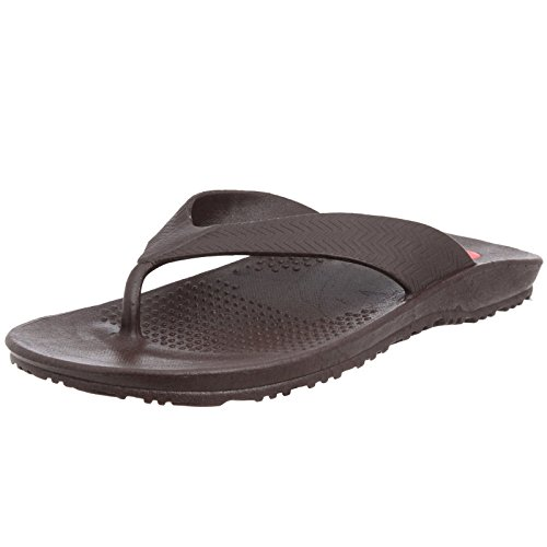 Okabashi Mens Surf Ergonomic Waterproof Flip Flop Sandal Shoes (Brown, XL)