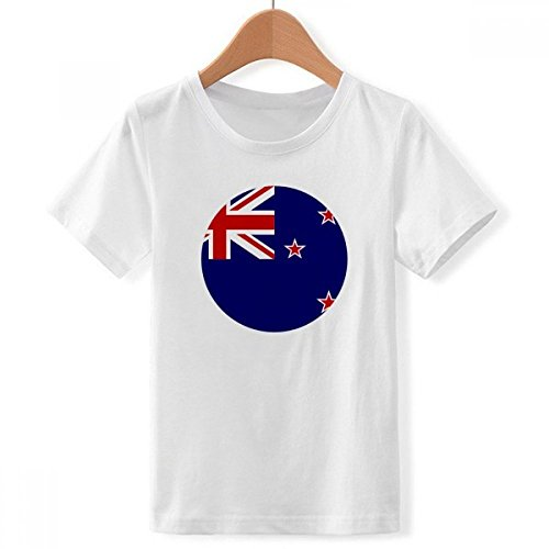 DIYthinker jongens New Zealand National vlag Oceanian symbool met ronde hals wit T-shirt