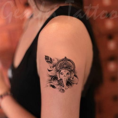 DSSJ Bebé Elefante Tatuaje Pegatinas Impermeable Hombres y Mujeres tótem Creativo simulación Sexy Tatuaje Pegatinas