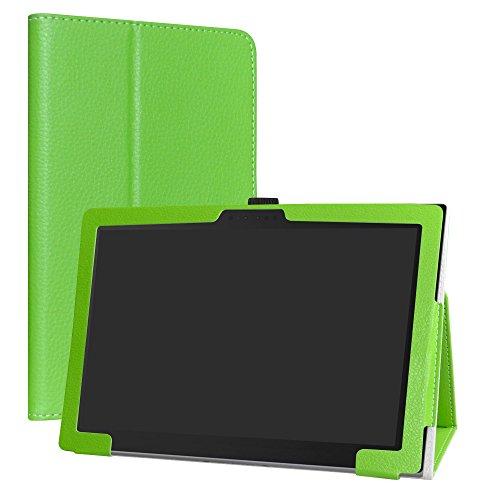 Lenovo Miix 630 Funda,LiuShan Folio Soporte PU Cuero con Funda Caso para 11.6' Lenovo Miix 630 Tablet,Verde