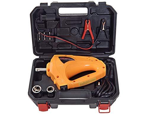 YASI MFG® - Avvitatore elettrico a percussione 12 V 250 N.M per pneumatici auto, chiave elettrica per pneumatici con inserti a bussola 17/19 m e 21/23 mm, colore: Giallo, Giallo