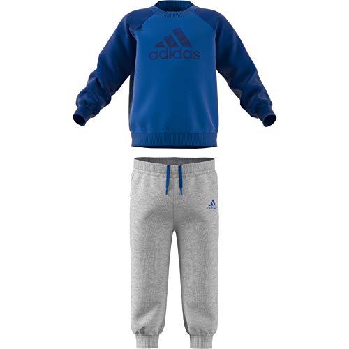 adidas Baby Logo Jogger Fleece Trainingsanzug, Collegiate Royal/Dark Blue, 80