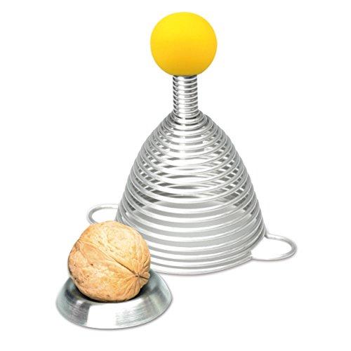 Take2 Edelstahl Nussknacker NAOMI mit gelber Gummikugel