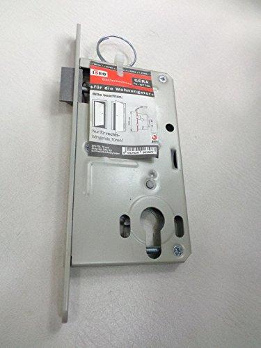 GERA Wohnungstüreinsteckschloss PZ-WT TGL, runder Stulp, 220x18 mm, 72mm, links