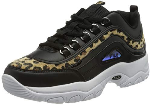 FILA Damen Strada A wmn Sneaker, Black/Leopard, 39 EU