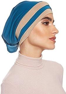 SHADOW Women's Stretchable Turban Cap With Open Back Muslim Islamic Arab Scarf Headscarf Abaya Cap, One Size