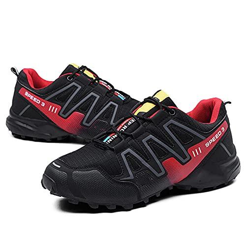 Fnho Calzado para Correr por Carretera,Zapatos de Gimnasia Zapatos Ligeros,Zapatos para Caminar a Campo traviesa, Zapatos para Correr de Ocio-Red_41