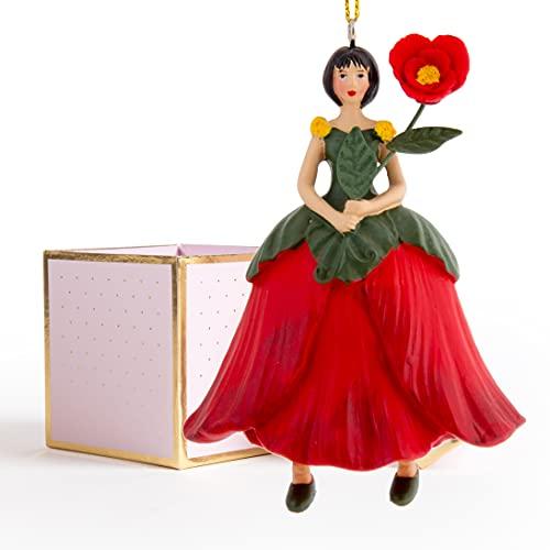 ROSEMARIE SCHULZ Heidelberg Mohnblumen Blumen Mädchen zum Hängen mit Geschenkbox Flower Fairy Figur/Dekofigur/Blumenkind/Blumenskulptur