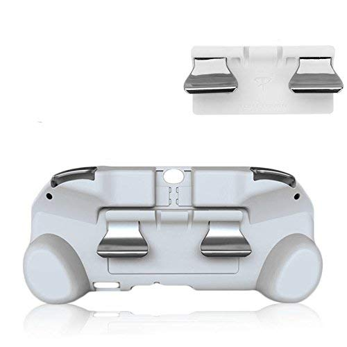 New Matte Non-Slip L3 R3 Hand Grip Handle Joypad Stand Case with L2 R2 Trigger Button Grips Holder for PSV 2000 PS VITA 2000 Game Console-White.