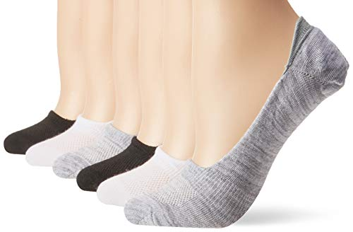 Hanes Women's Shoe Size: 5-9 Lightweight Breathable Ballerina Liner Socks, 6-Pair Pack, Assorted