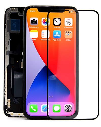 QUITECO Display per iPhone X OLED LCD - Schermo Compatibile per A1865 A1901 A1902 + Pellicola Omaggio