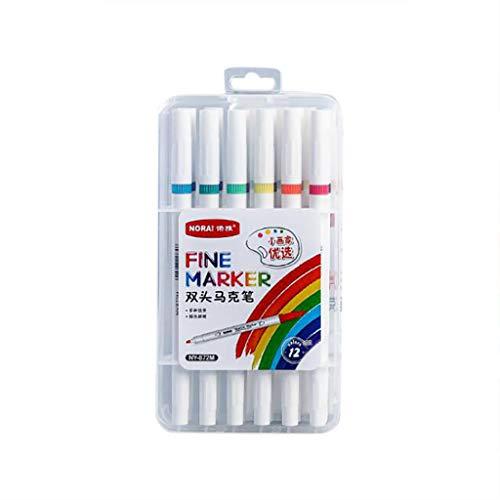 Permanente Art Markers Twin Marker Pen Sketch Brede Fine Point Grafische Zwart Gekleurde Animatie Ontwerp voor Tekenen Kleurplaten Verschillende Kleuren Pack van 12/24/36 Kleuren