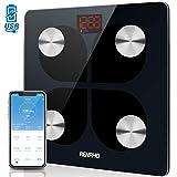 RENPHO Körperfettwaage, Bluetooth Personenwaage USB Wiederaufladbare Körperanalysewaage mit App,...