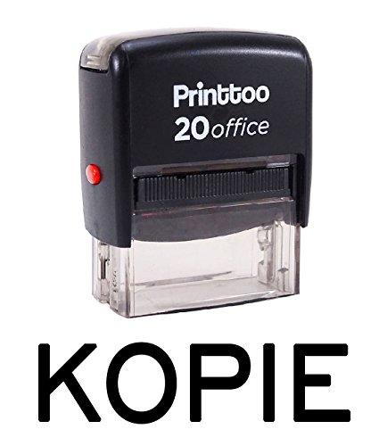 Printtoo Selbstfärber KOPIE Stempel Büro stationär Bedrucktes Stamp-Schwarz
