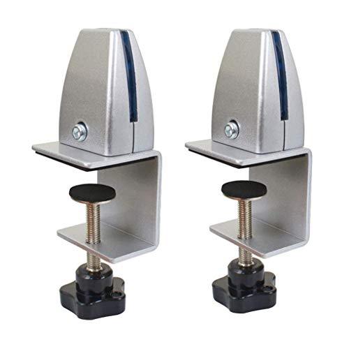 TSXF Klemmhalter für Plexiglas,Büro-Schreibtisch Trennwand Clip Klemmhalter Tischklemme für Spuckschutz,für Büro Max Tischplatte: 5-40mm Set von 2 Stück,Silber