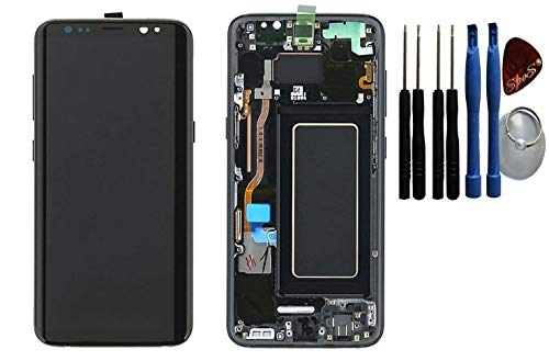 SPES Origianl LCD Display Touchscreen Bildschirm für Samsung Galaxy S8 G950F Rahmen Schwarz