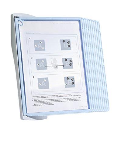 Durable 591100 Sichttafelwandhalter Sherpa BACT-O-CLEAN Wall 10 (inklusiv 10 Tafeln)