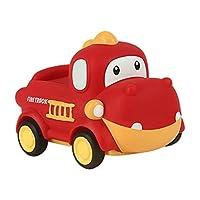 Hellery かわいい車のおもちゃプルバック知育玩具建設車両慣性トラックエンジニアリングホイールで1-3ベビー頑丈な誕生日ベビーシャワーのギフト - 恐竜