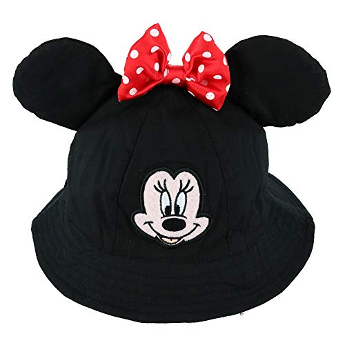 Disney Toddler Minnie Mouse Bucket hat with Bow Black