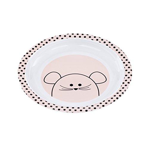 LÄSSIG Kinderteller rutschfest Melamin/Plate Little Chums Mouse, rosa