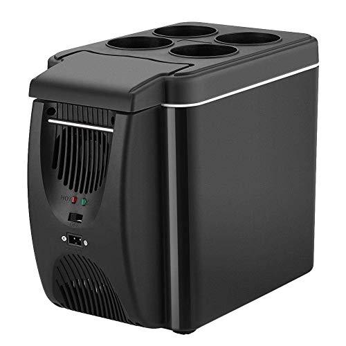 Refrigerador Refrigerador Congelador Glaciere 6L Mini Refrigerador De Coche 12V Refrigerador De Coche Caja De Refrigerador De Doble Uso Frío / Caliente Portátil IceBox Pequeño Congelador, Camping, Car