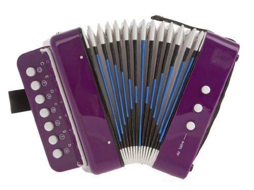 D'Luca Child Button Accordion Purple G105-PR