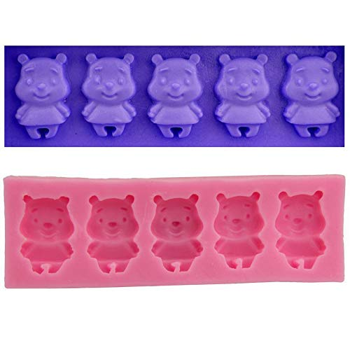 Winnie The Pooh-der-Bär-Cartoon -, 3D-Silikon-Schokoladen-Soap-Kuchen, Fondant Cupcake, Ton, Harz, Wachs, Gelee Schimmel, Eis-Gips Candy Cookies Gelatine