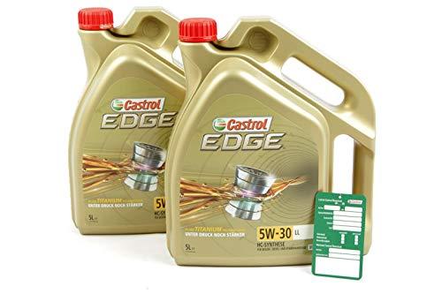 2x 5 L = 10 Liter Castrol Edge Fluid Titanium 5W-30 LL Motoröl