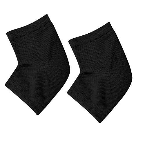Gel Heel Foot Care Socks for Dry Hard Cracked Skin Open Toe Comfy Recovery Socks Day Night Care Moisturizing Heel Protective Sleeve Protective Half Pain Relief Socks(noir)