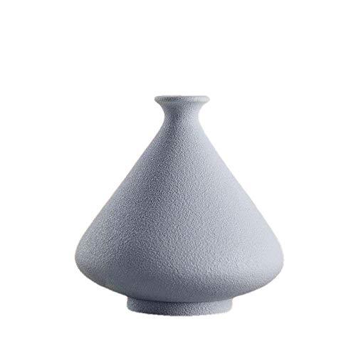 ZXHW vaseNordique créative céramique curamique Ronde Artisanat Vase Chambre Simple Salon télévision Armoire Maison décorat Ornements-C