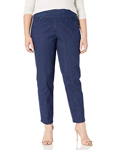 Ruby Rd. Women's Plus-Size Pull-on Extra Strech Denim Jean, Dark Indigo, 18W