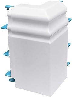 Habengut Berliner Profil - Esquina Exterior para rodapié (PVC, 1 Unidad), Color Blanco