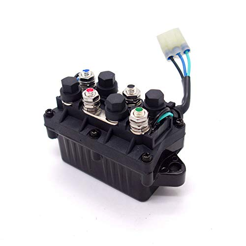 GSKMOTOR Universal ATV Winch Solenoid Switch Relay Assembly Repair Replacement For Arctic Cat 0409-066 6639-894 1436-066 1436-805 0436-700 1436-187