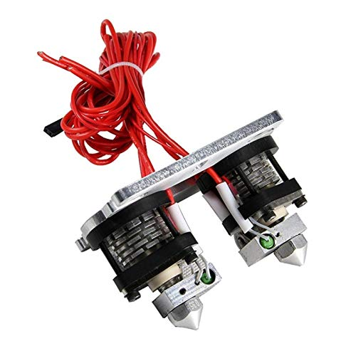 ZHANGSHENG ZSHENG Dual-head Extruder 0.3mm-1.75mm Nozzle-MakerBot Dualstrusion,Hot End Replicator For 3D Printer Mendel