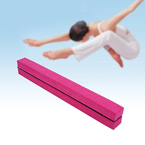 EBTOOLS 7.2 pies Plegable Barra de Equilibrio de Gimnasia 2.2M Equipo de Entrenamiento de Gimnasio Resistente (Rojo)