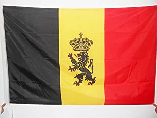 AZ FLAG Belgium Coat of Arms Flag 2' x 3' for a Pole - Belgian with Lion Flags 60 x 90 cm - Banner 2x3 ft with Hole