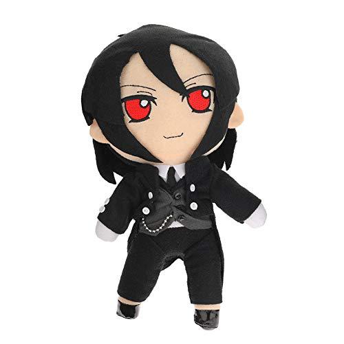 ruggito Kuroshitsuji Weiche Puppen Anime Black Butler Cosplay DIY Spielzeug Sebastian, Ciel Phantomhive Anime Figur Dekoration(Orange)