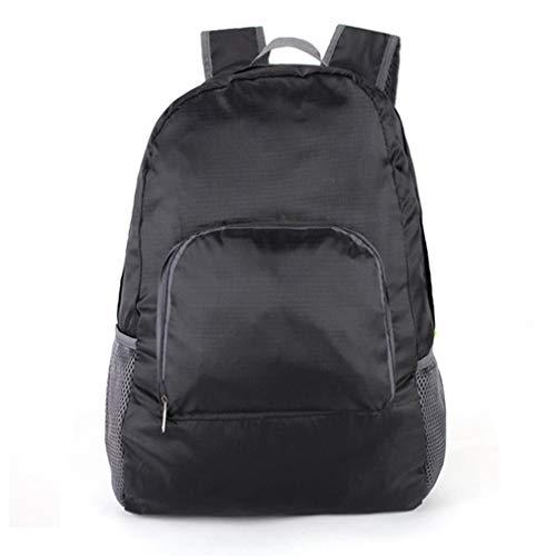 YKSO Mochila plegable de 20 l para hombres y mujeres, impermeable, ligera, color sólido, para viajes, camping, senderismo, bolsa de la escuela