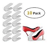 LITZEE Rangement Chaussure Réglable, Lot de 10 Supports de Chaussures en Plastique...
