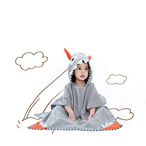 Maternal and child-G.TZ Serviettes De Bain À Capuchon pour Bébé, Serviette De Bain en Coton Peignoir Unisexe pour Tout-Petit 0-6T, Gris